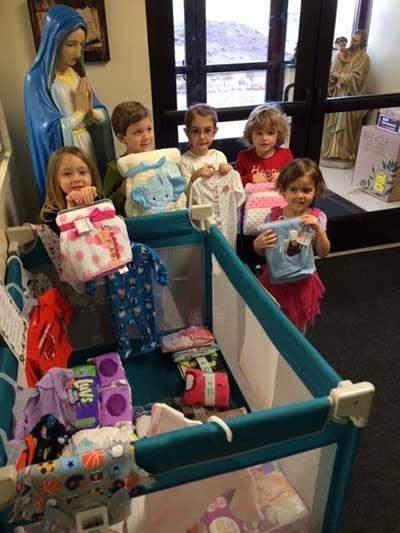 Preschool Participates in the Christmas Coat and Supplies Drive.
