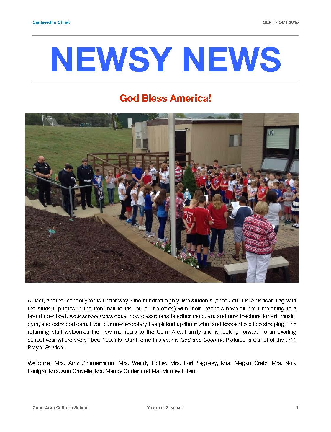 Newsy News - Sept./Oct. 2015